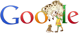 Google Logo: Pippi Longstocking's 65th birthday